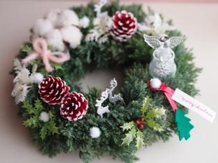 森のクリスマスを楽しむ テーブルリース