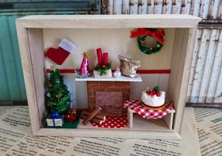 ミニチュアクラフト クリスマスの小さなお家