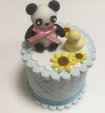 パンダとひまわりの シュガーボックス