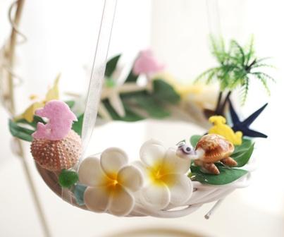 貝殻とお花のサマーリース