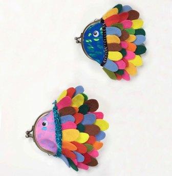カラフル☆ お魚コインケースを作ろう!