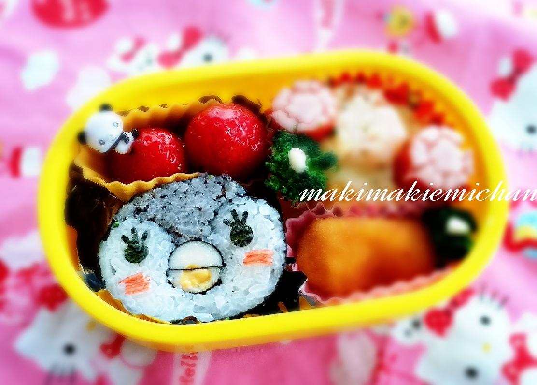 親子で巻き巻き♪ 「ペンギン」デコ巻き寿司